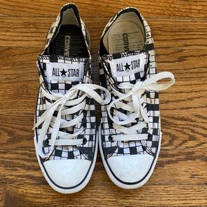 Crossword Patterned Converse All Stars - Rare